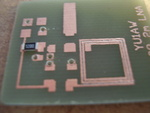 YU1AW 144MHz preamp pcb etched